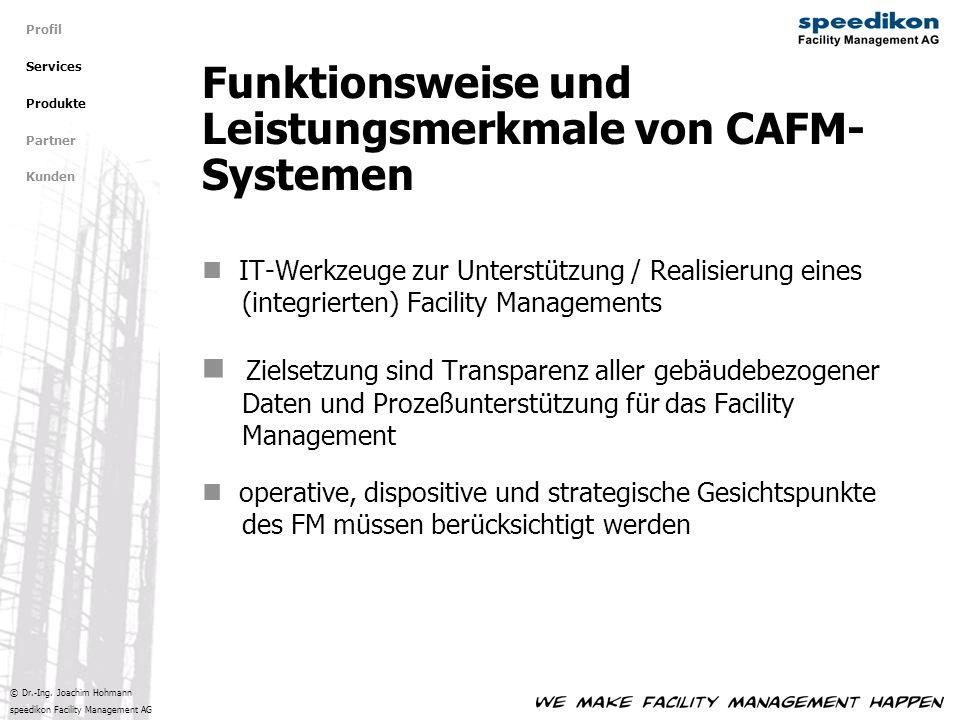 Funktionsweise und Leistungsmerkmale von CAFM-Systemen