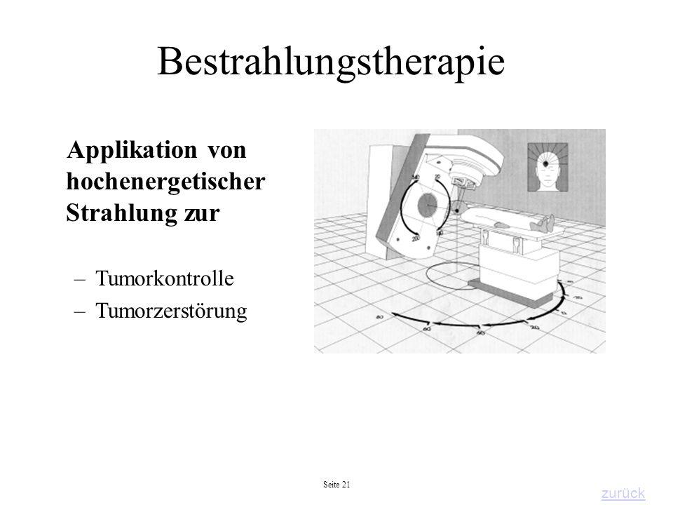 Bestrahlungstherapie
