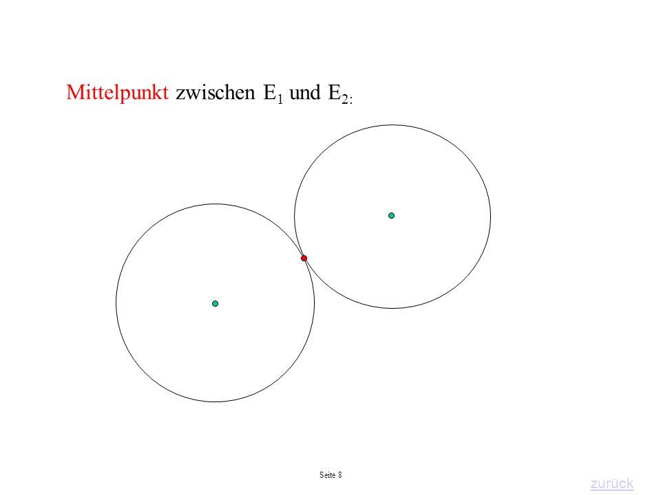 Mittelpunkt zwischen E1 und E2: