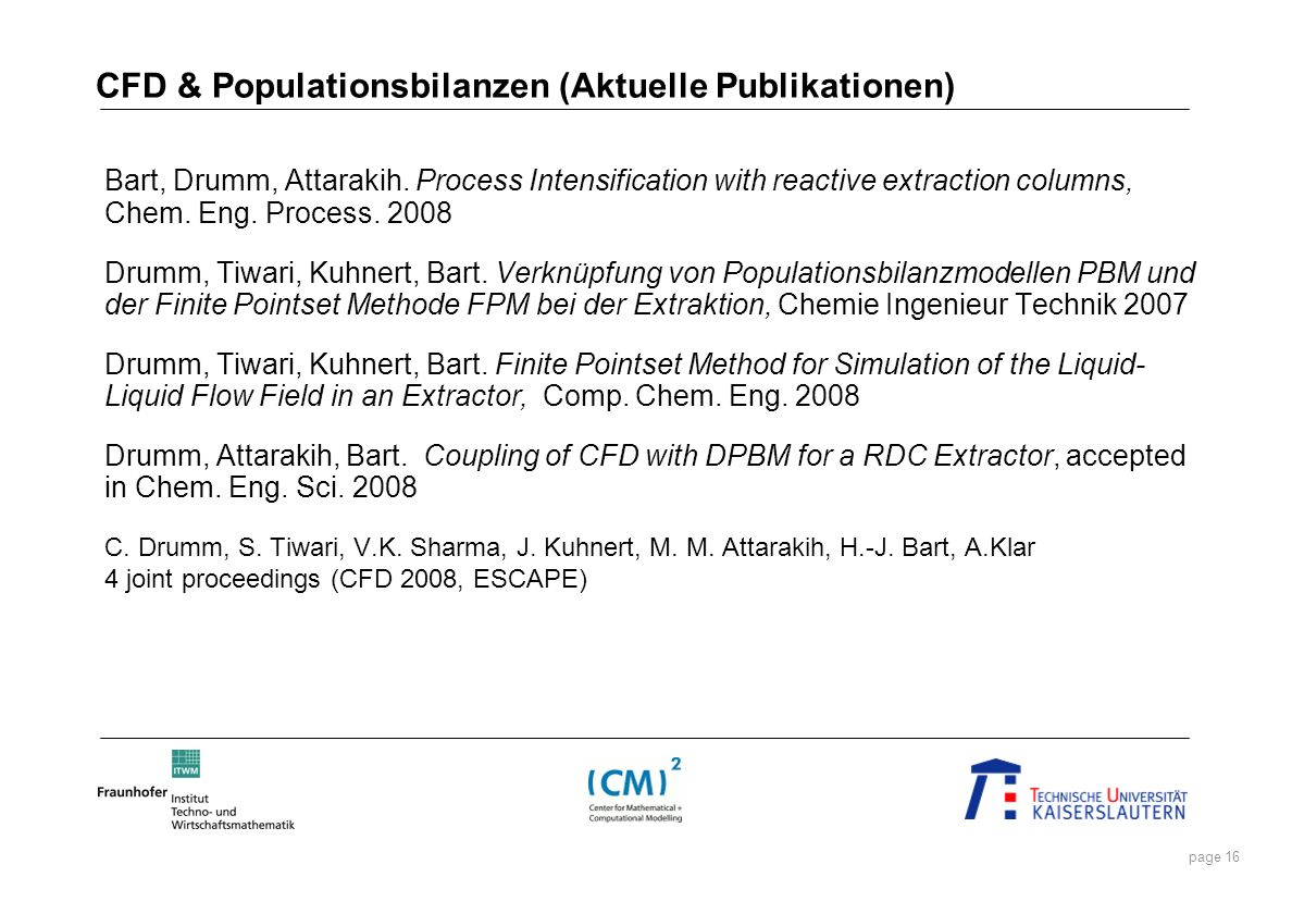 CFD & Populationsbilanzen (Aktuelle Publikationen)