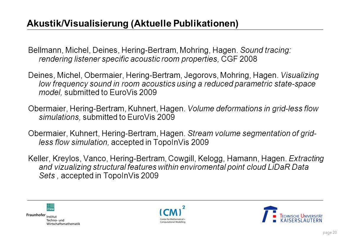 Akustik/Visualisierung (Aktuelle Publikationen)