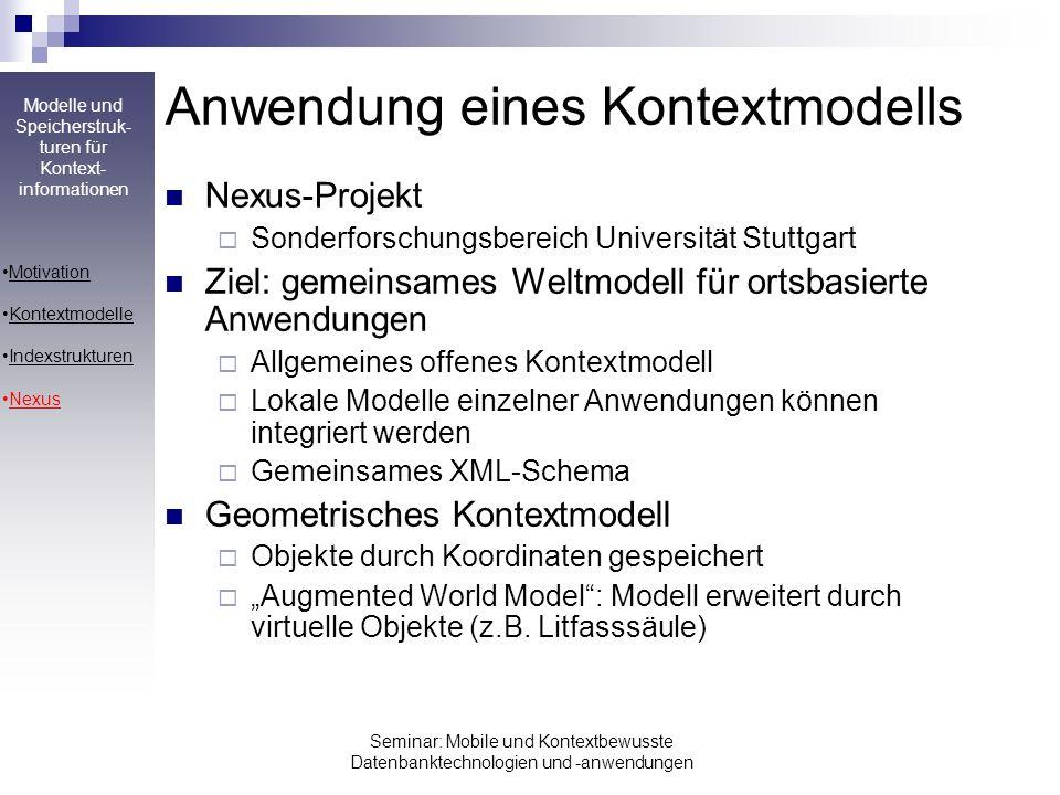 Anwendung eines Kontextmodells
