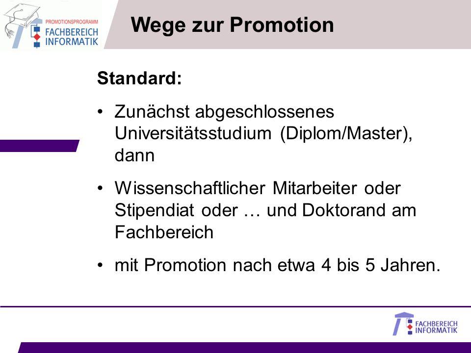Wege zur Promotion Standard: