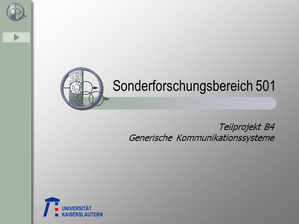Teilprojekt B4 Generische Kommunikationssysteme