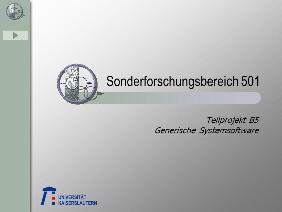 Teilprojekt B5 Generische Systemsoftware