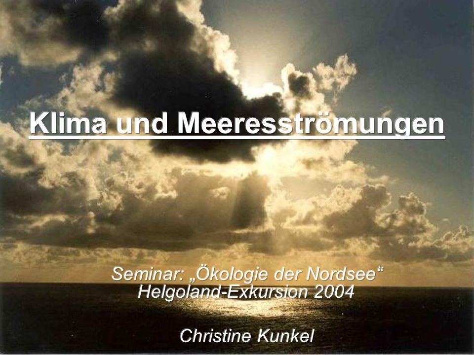 Klima und Meeresströmungen