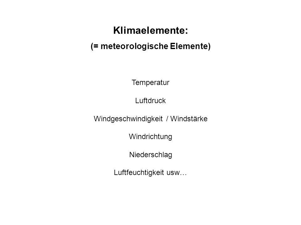 (= meteorologische Elemente)