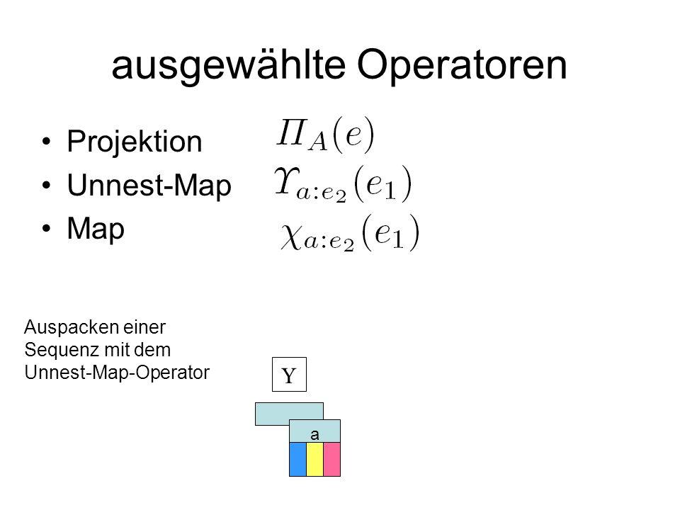 ausgewählte Operatoren