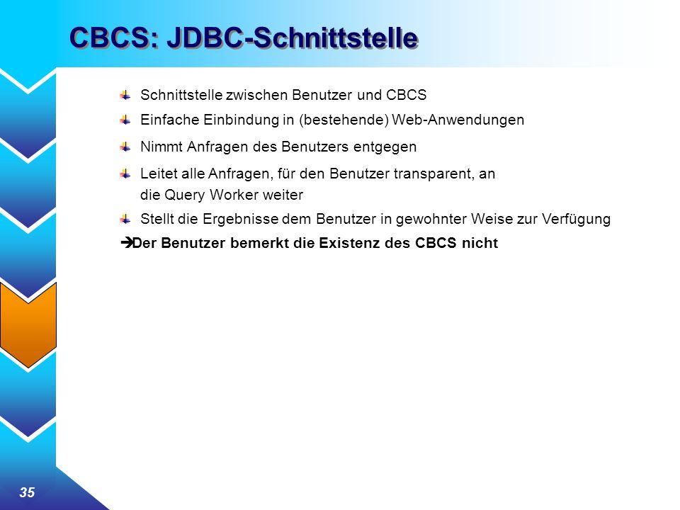 CBCS: JDBC-Schnittstelle