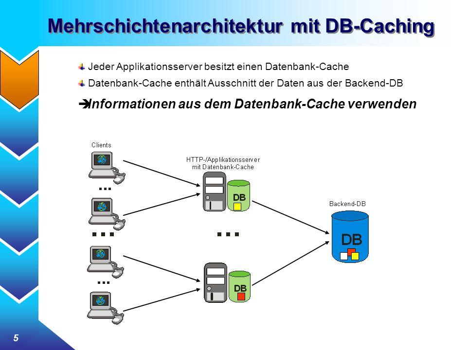 Mehrschichtenarchitektur mit DB-Caching