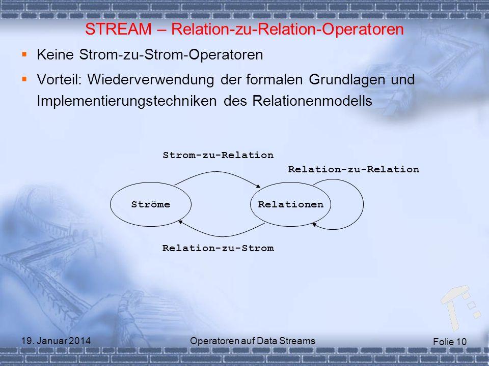 STREAM – Relation-zu-Relation-Operatoren