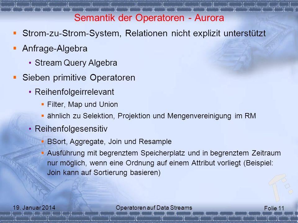 Semantik der Operatoren - Aurora