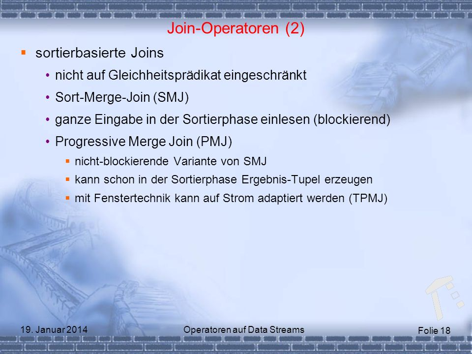 Operatoren auf Data Streams