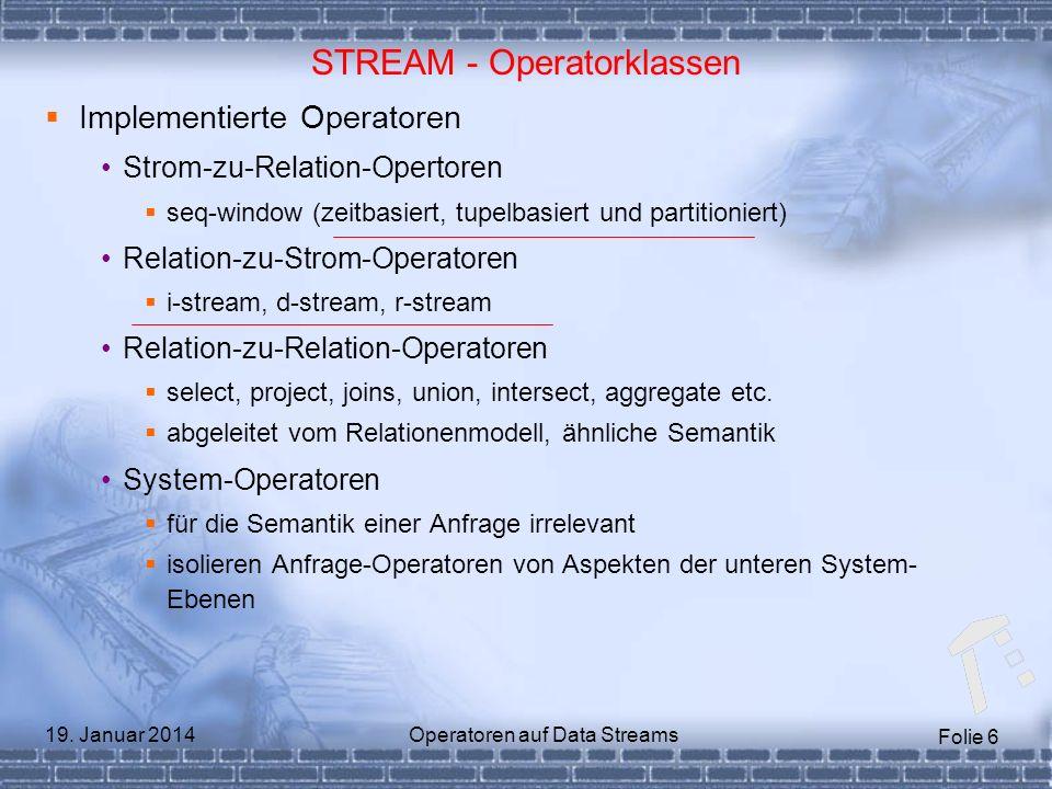 STREAM - Operatorklassen