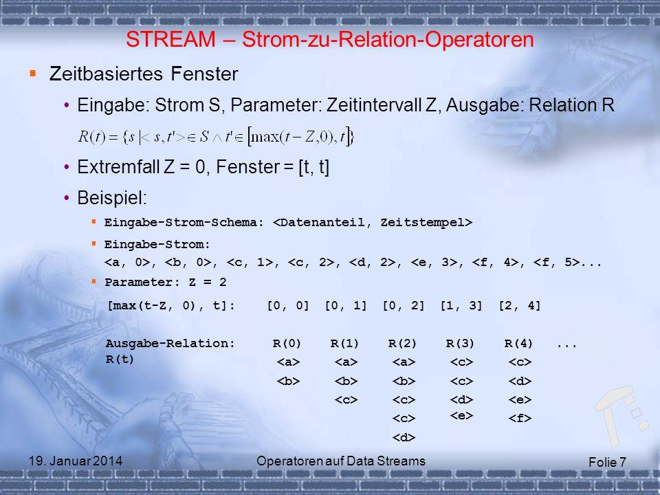 STREAM – Strom-zu-Relation-Operatoren