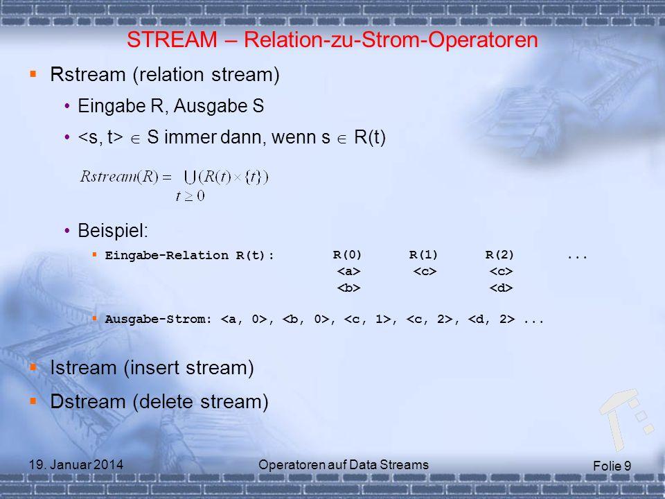 STREAM – Relation-zu-Strom-Operatoren