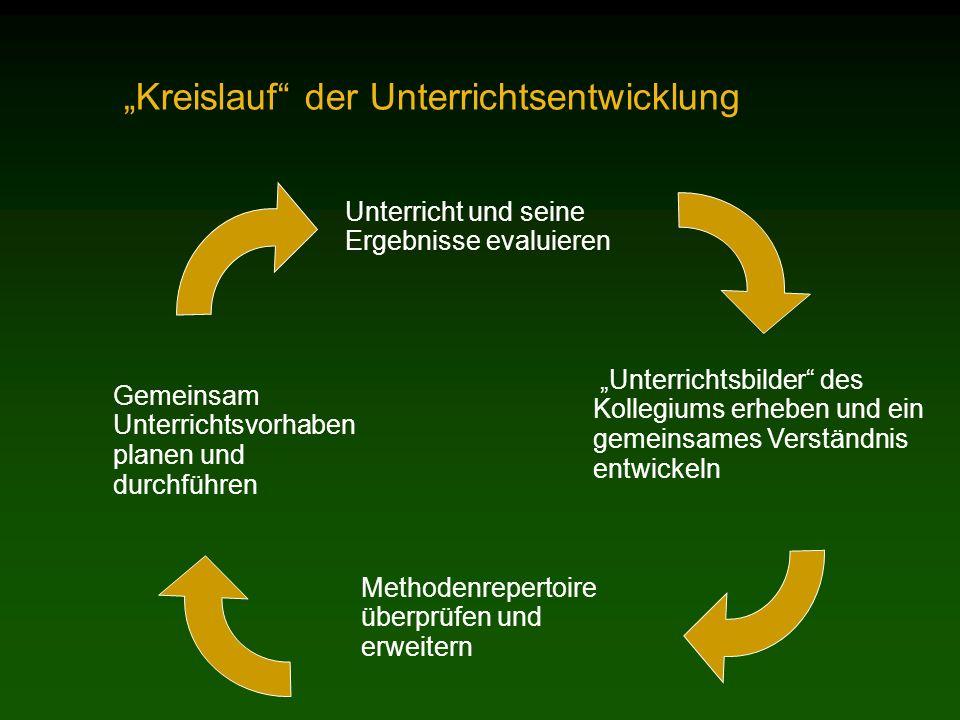 """""""Kreislauf der Unterrichtsentwicklung"""