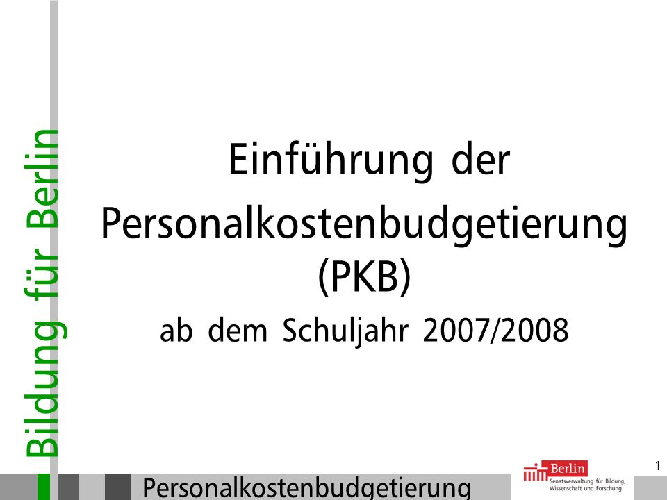 Personalkostenbudgetierung (PKB)