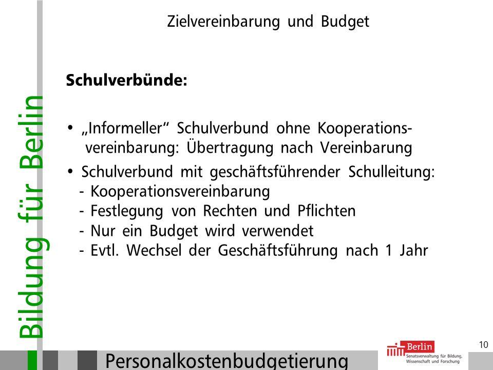 Zielvereinbarung und Budget