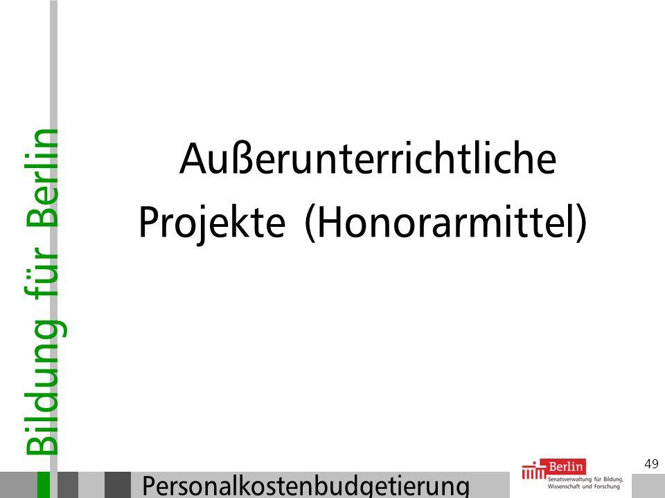 Projekte (Honorarmittel)