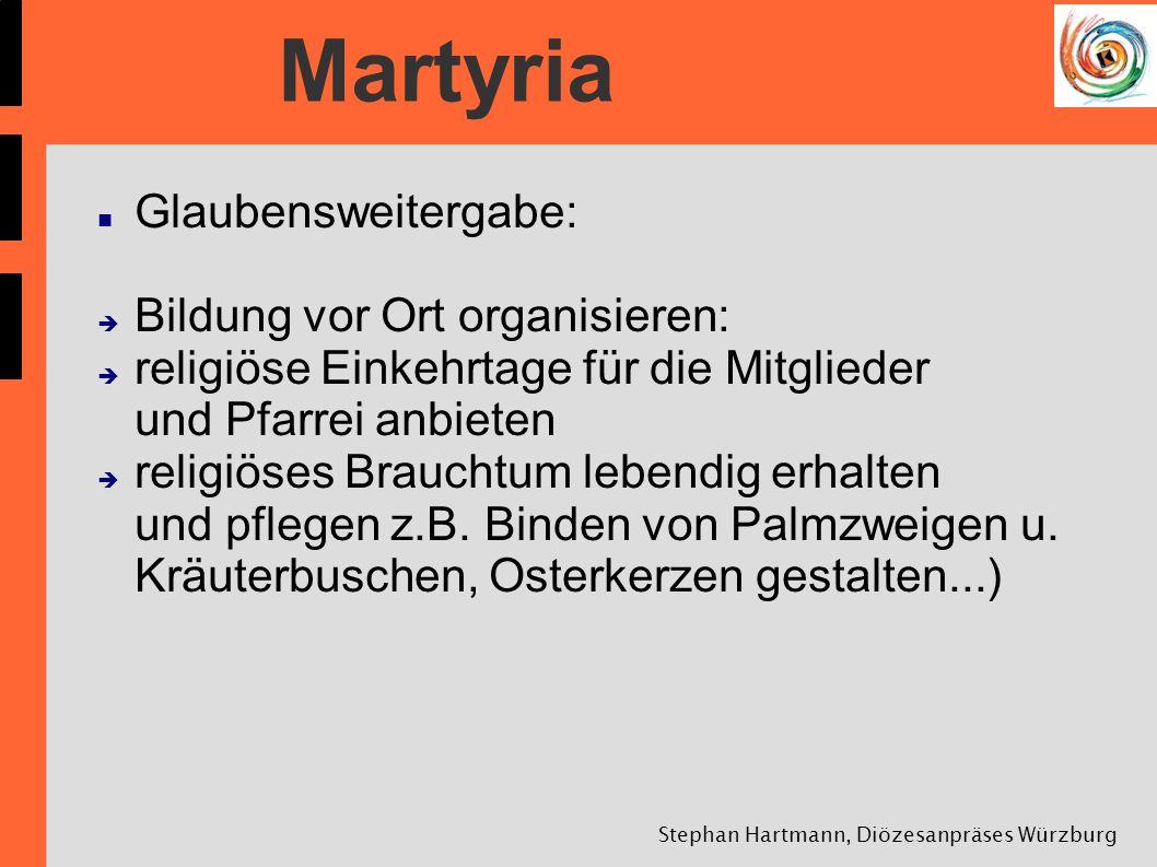 Stephan Hartmann, Diözesanpräses Würzburg