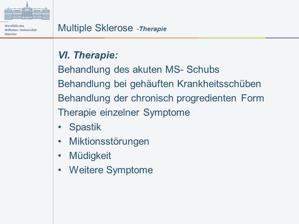 Multiple Sklerose -Therapie