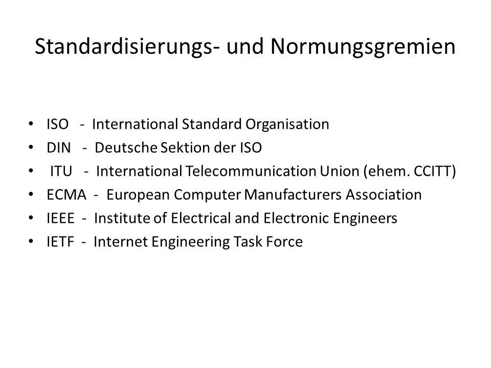 Standardisierungs- und Normungsgremien