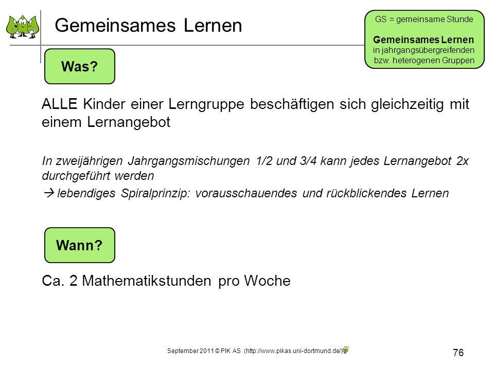 Gemeinsames Lernen GS = gemeinsame Stunde. Gemeinsames Lernen. in jahrgangsübergreifenden. bzw. heterogenen Gruppen.