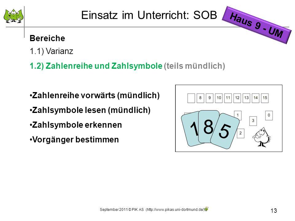 Einsatz im Unterricht: SOB