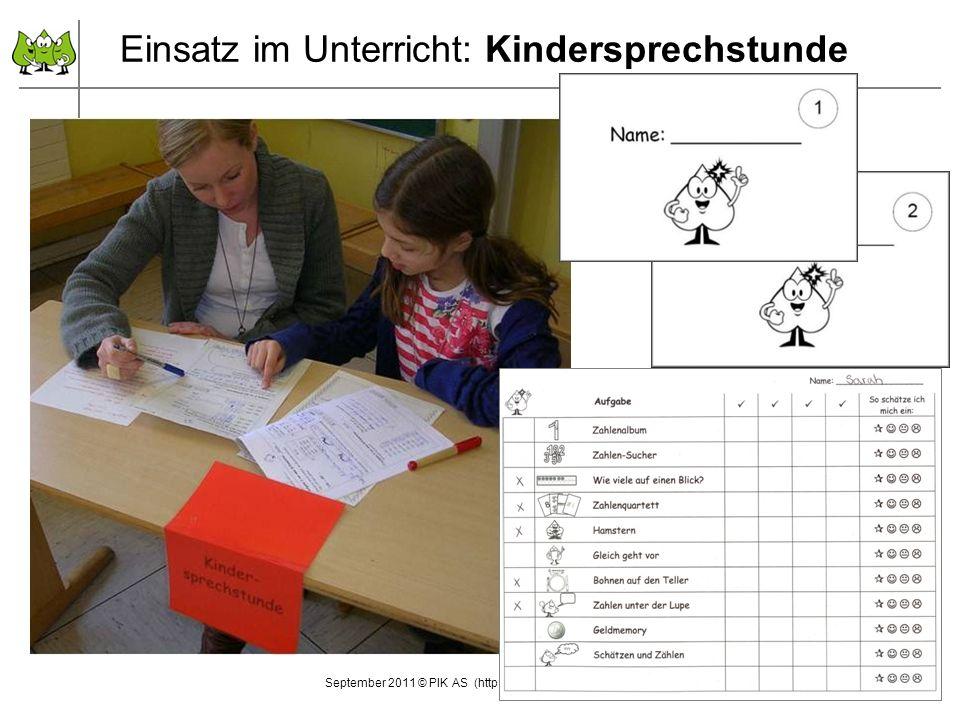 Einsatz im Unterricht: Kindersprechstunde