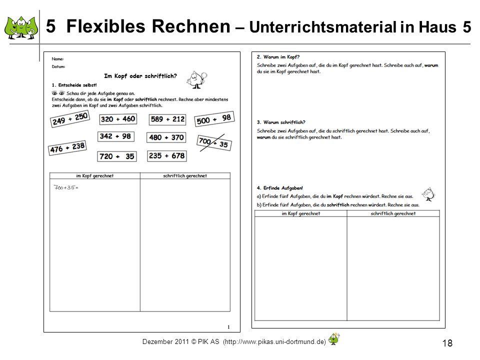 5 Flexibles Rechnen – Unterrichtsmaterial in Haus 5