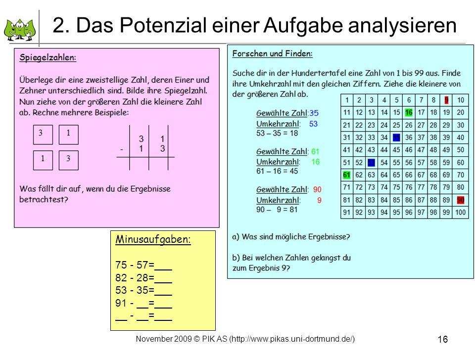 2. Das Potenzial einer Aufgabe analysieren