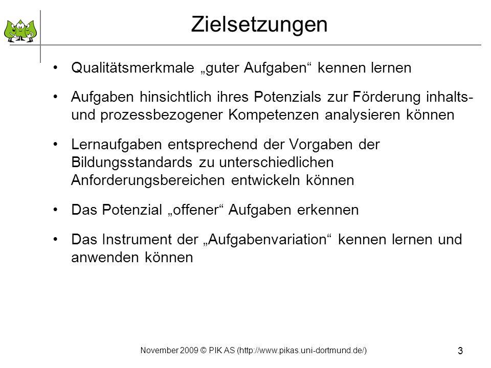 November 2009 © PIK AS (http://www.pikas.uni-dortmund.de/)