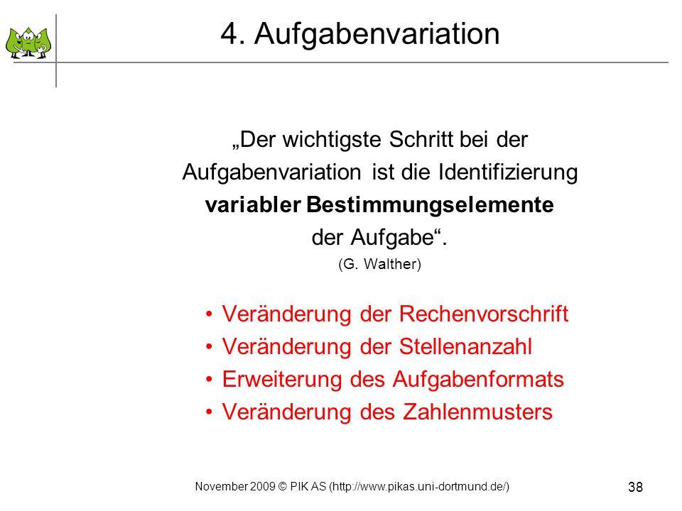 """4. Aufgabenvariation """"Der wichtigste Schritt bei der"""