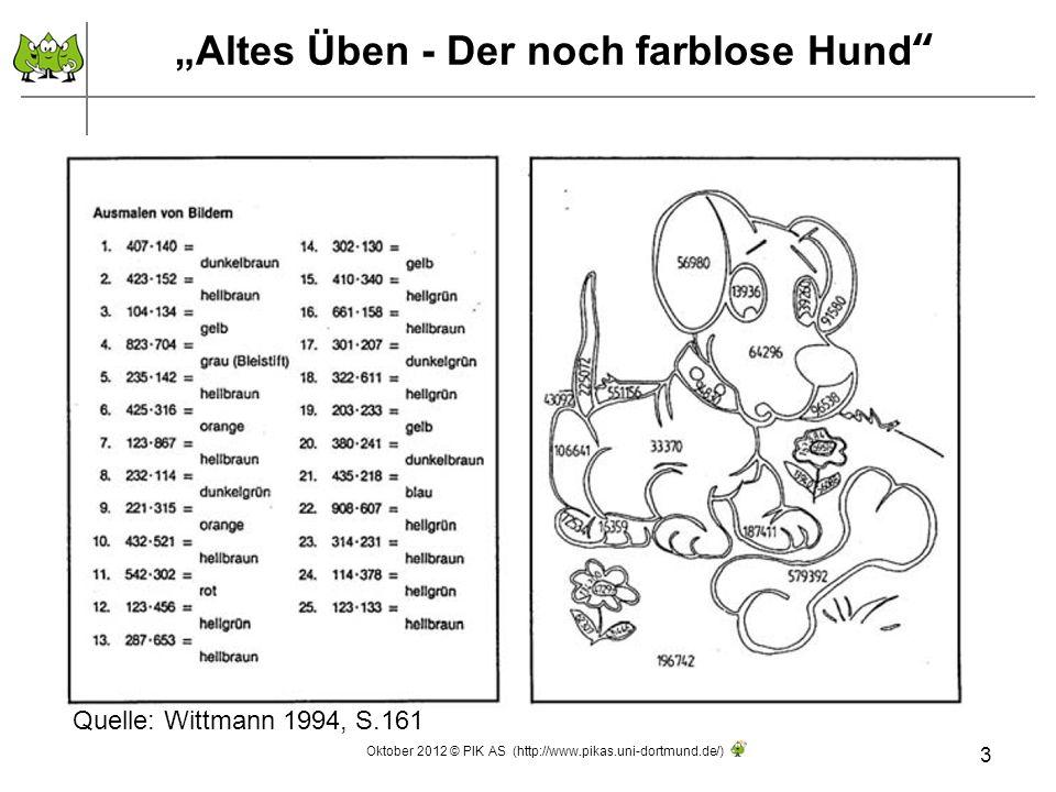 """""""Altes Üben - Der noch farblose Hund"""