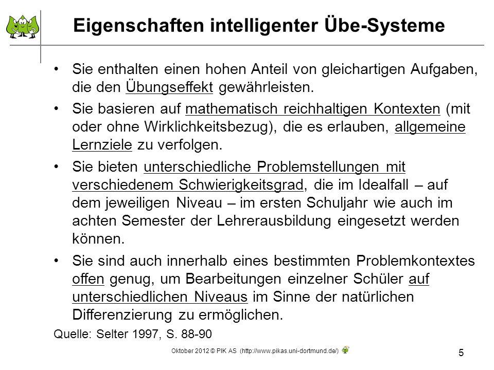 Eigenschaften intelligenter Übe-Systeme
