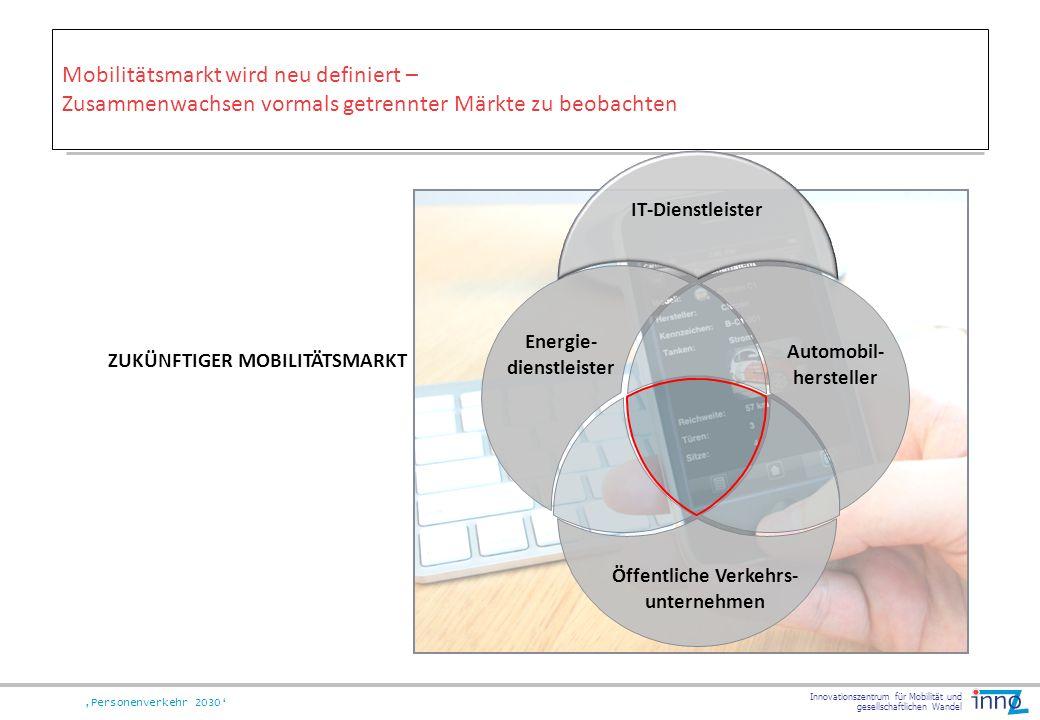 Mobilitätsmarkt wird neu definiert – Zusammenwachsen vormals getrennter Märkte zu beobachten