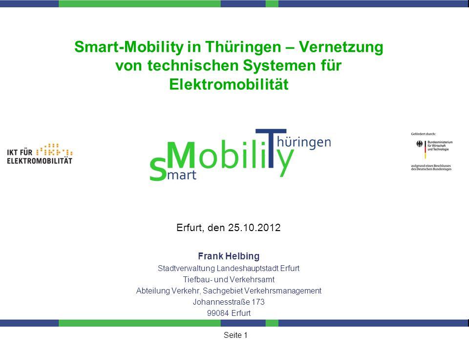 Smart-Mobility in Thüringen – Vernetzung von technischen Systemen für Elektromobilität