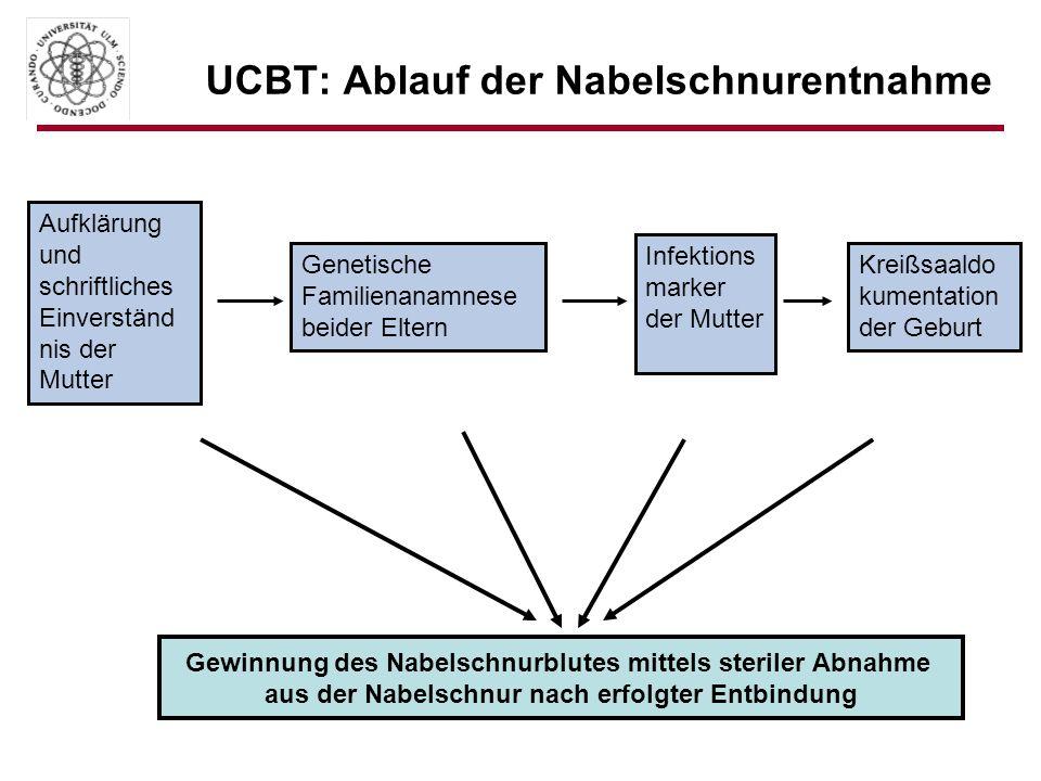 UCBT: Ablauf der Nabelschnurentnahme