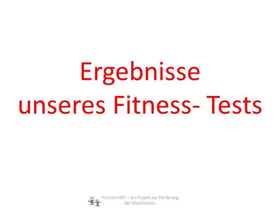 Ergebnisse unseres Fitness- Tests