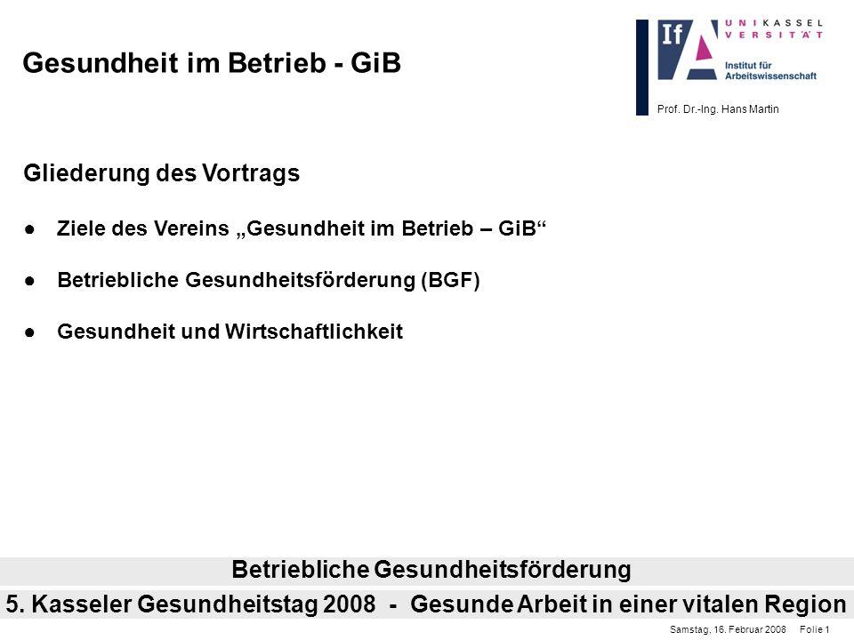 Gesundheit im Betrieb - GiB
