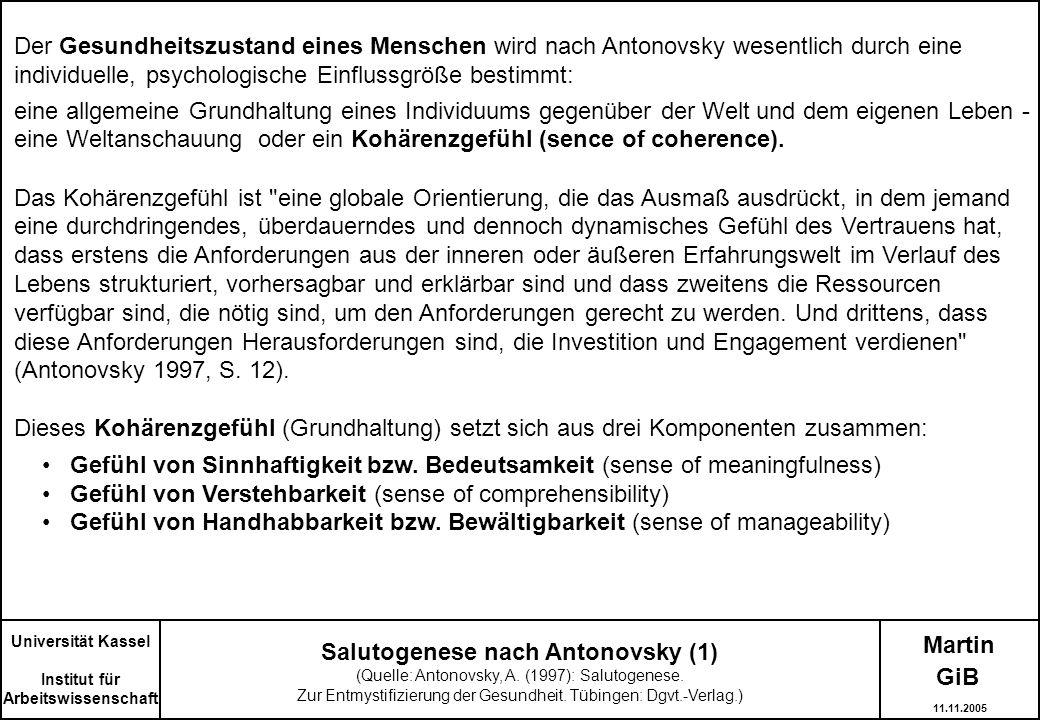 Salutogenese nach Antonovsky (1)