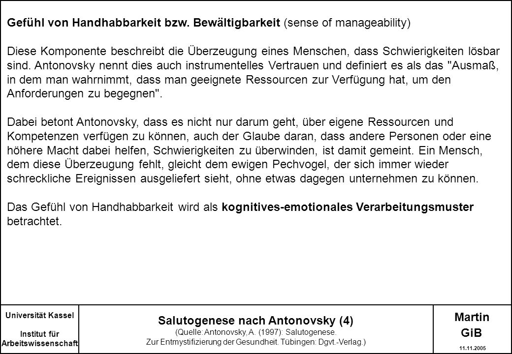 Salutogenese nach Antonovsky (4)