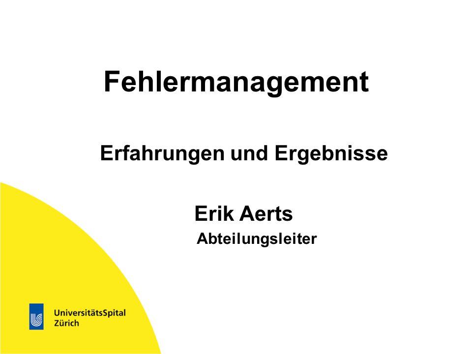 Erfahrungen und Ergebnisse Erik Aerts