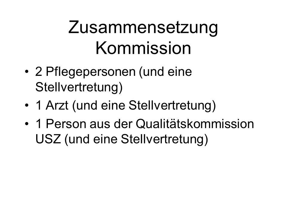 Zusammensetzung Kommission