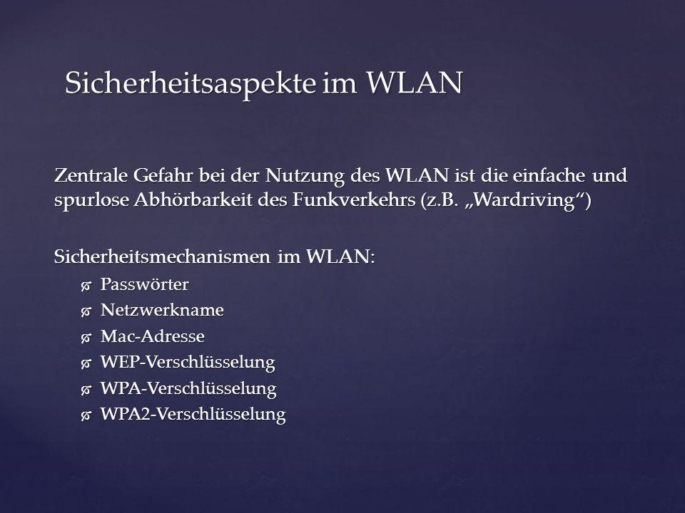 Sicherheitsaspekte im WLAN