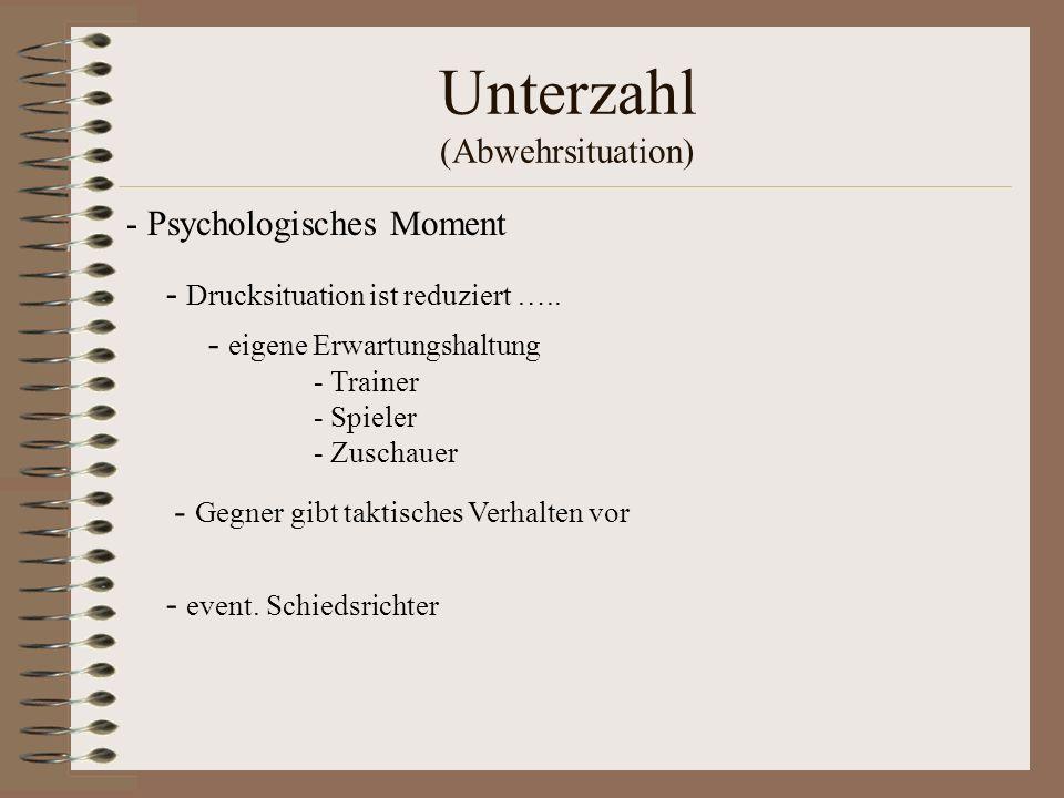 Unterzahl (Abwehrsituation)
