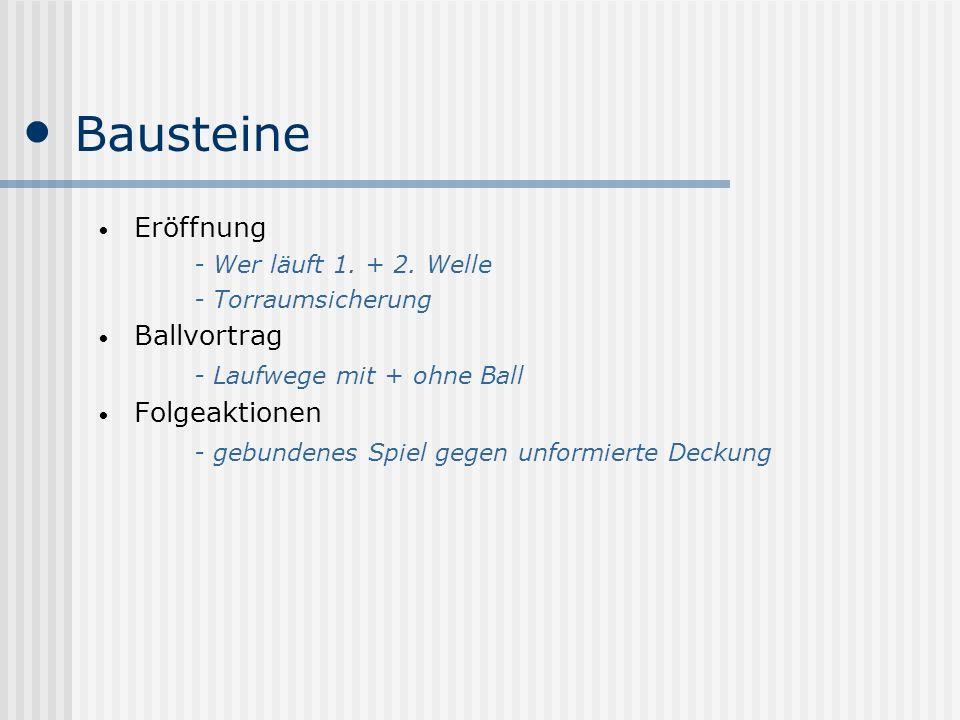 Bausteine Eröffnung Ballvortrag - Laufwege mit + ohne Ball