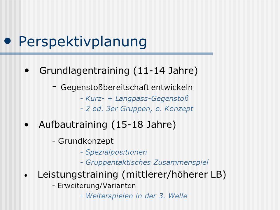 Perspektivplanung Grundlagentraining (11-14 Jahre)