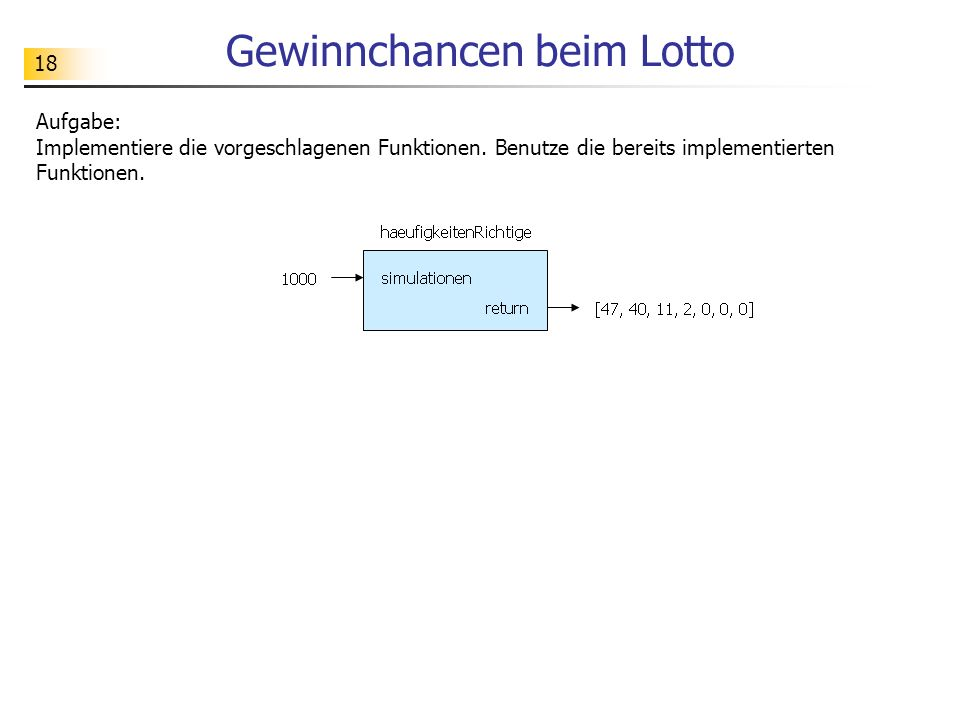 Gewinnchancen beim Lotto